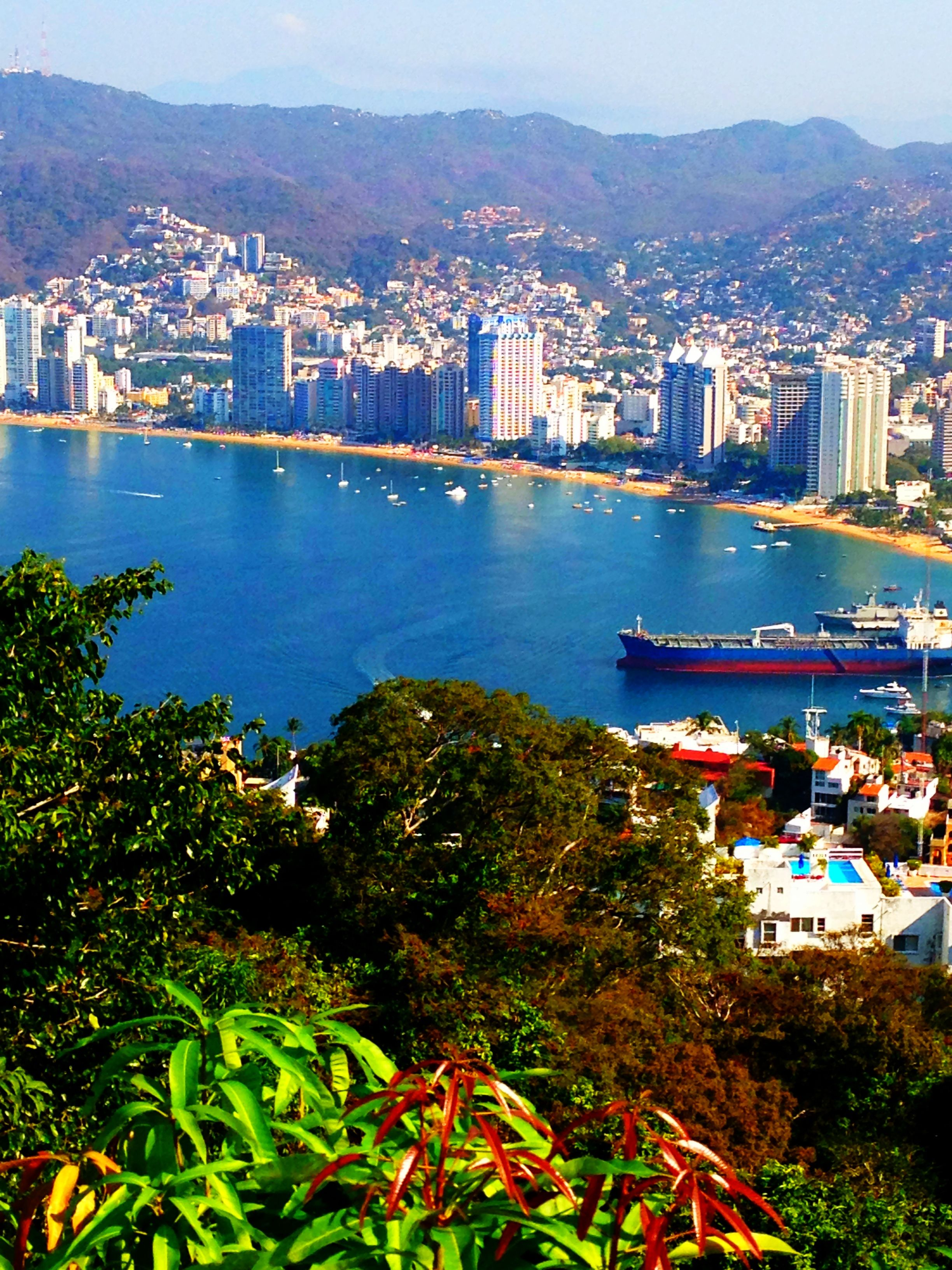 View of Acapulco city and bay from