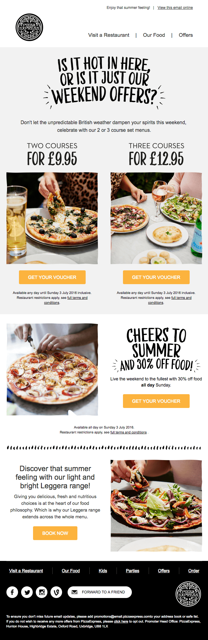 Email Design For A Restaurant Email Marketing Design Email Design Email Design Inspiration