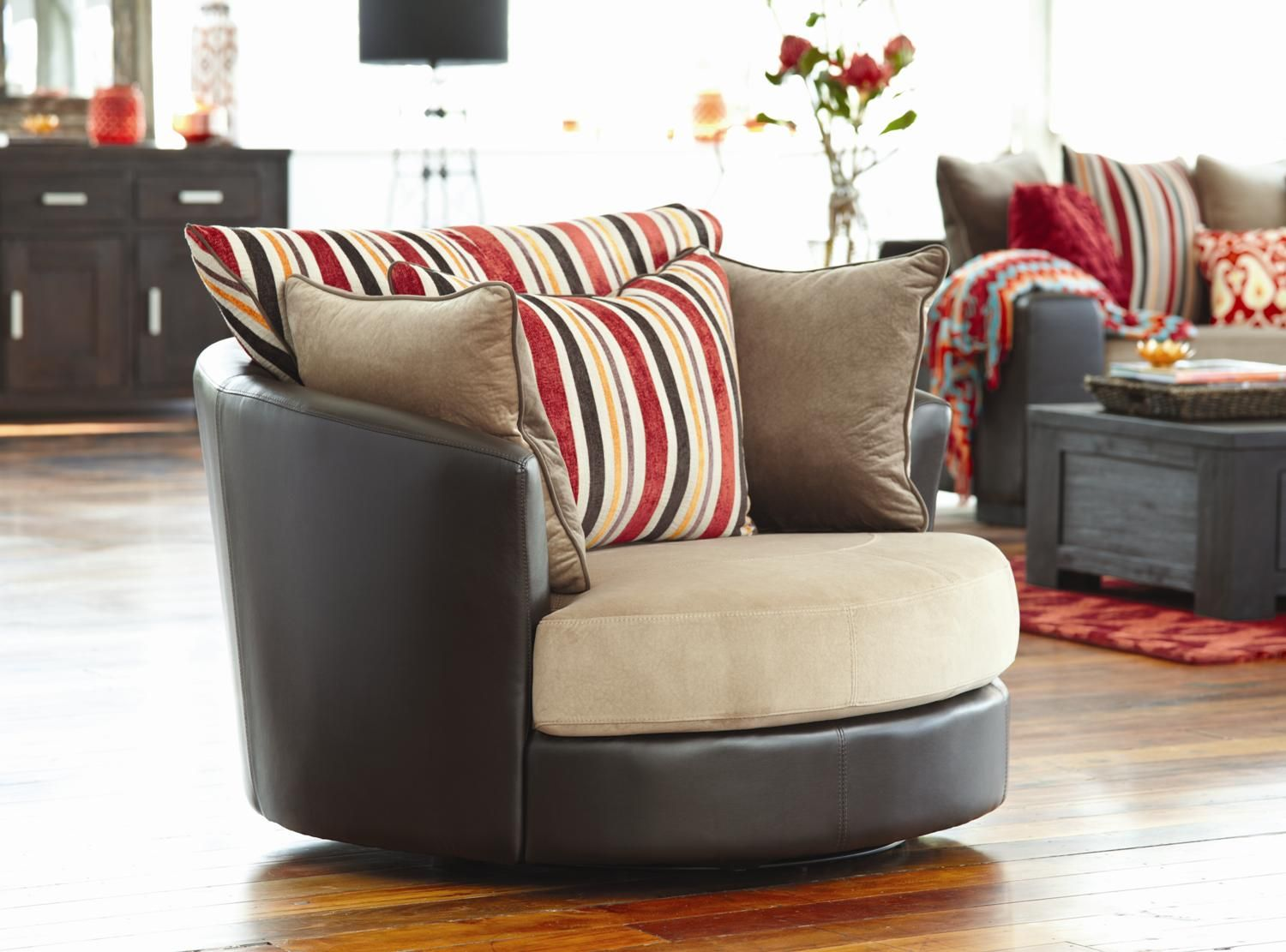 Boston Swivel Chair Large Brown from Harvey Norman NewZealand - Boston Swivel Chair Large Brown From Harvey Norman NewZealand
