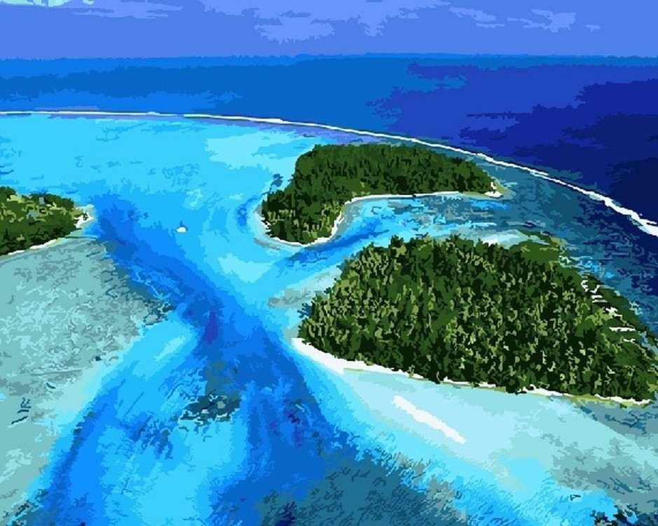 Картина по номерам «Маленькие островки»   Картины, Пейзажи ...