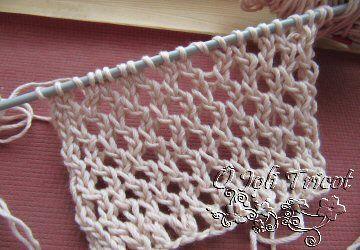 Different point de tricot ajouré