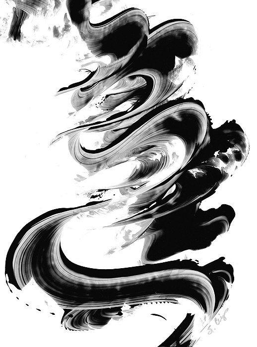 Minimal Black White Painting BW Abstract Art Artwork High ...