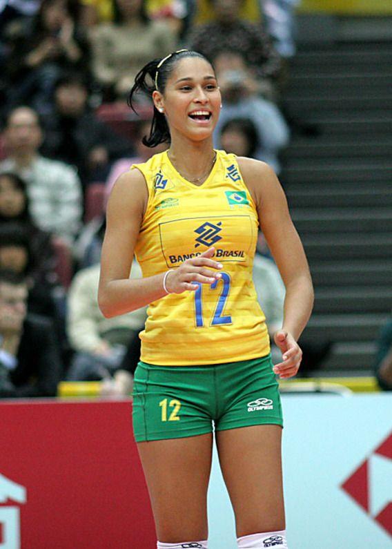 beautiful female volleyball players
