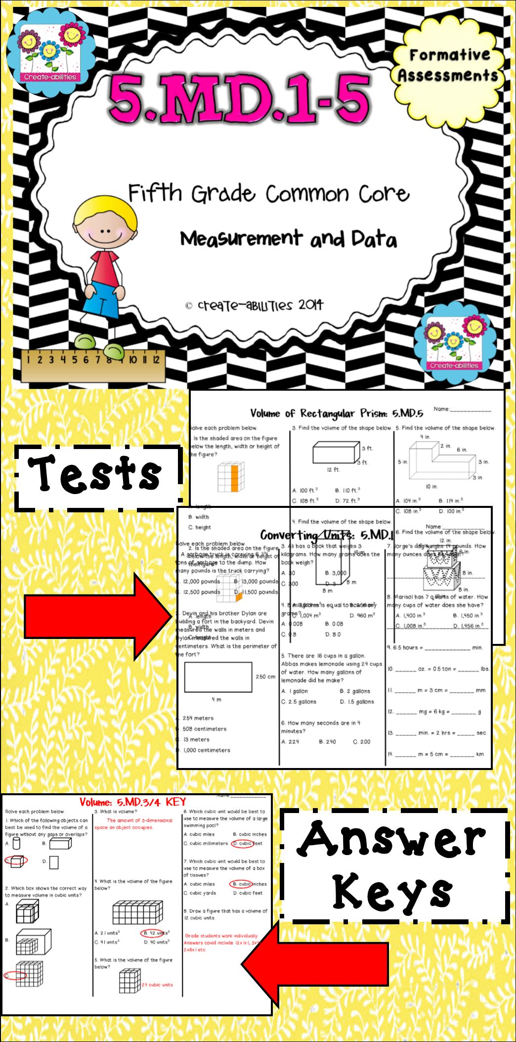 Measurement Tests 5th Grade