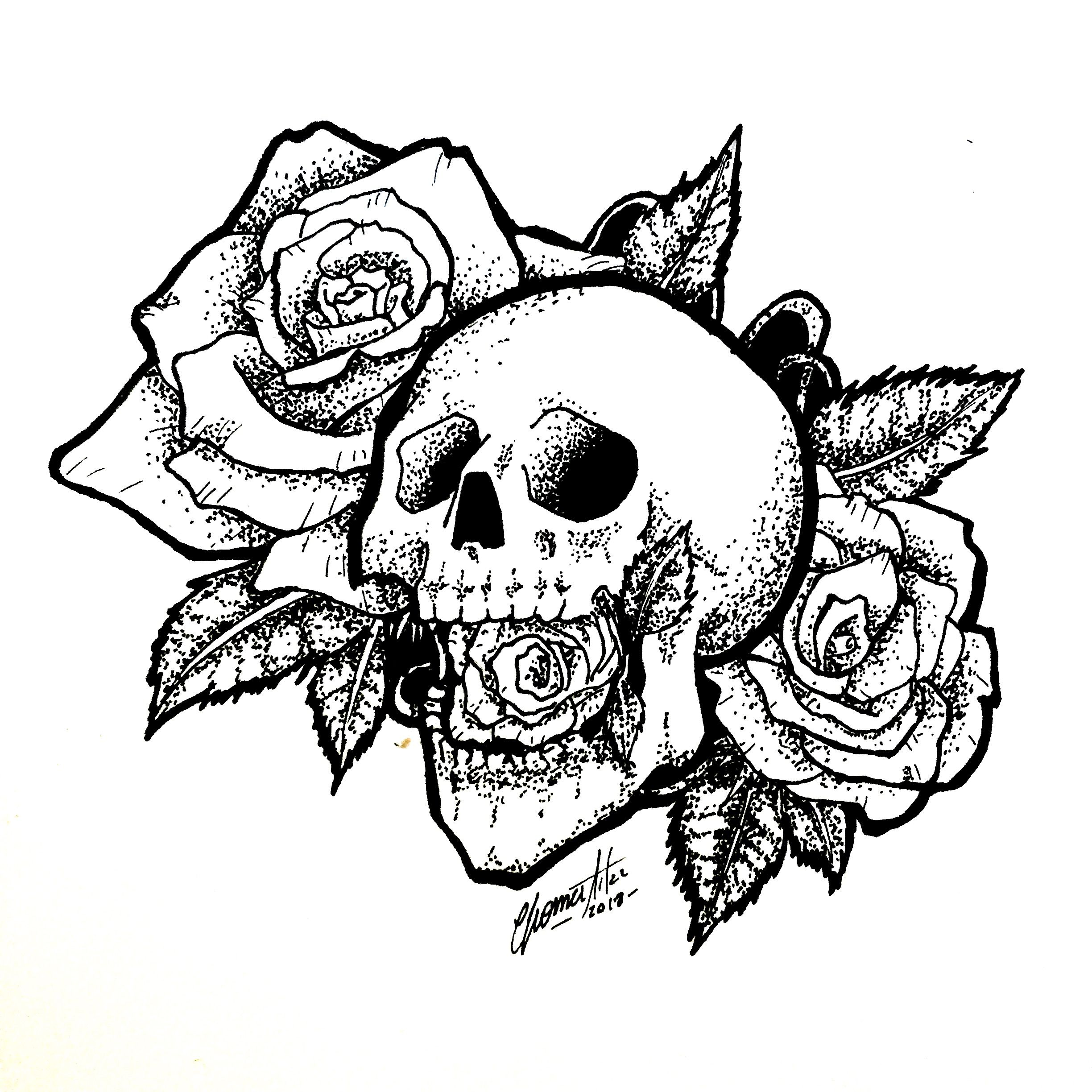 Gallery Skull Tattoo   Old school tattoo designs, Skull coloring pages ... is free HD wallpaper.