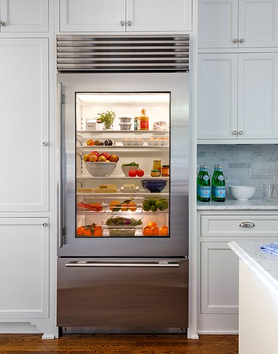 Before and After: Los Angeles project. Glass Front RefrigeratorViking ...