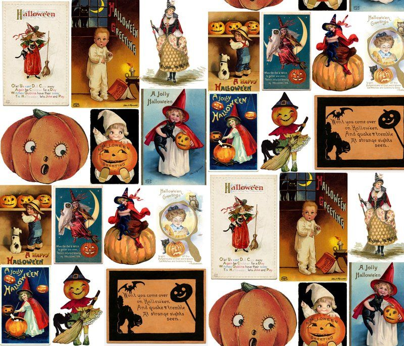 designs – Spoonflower Vintage Halloween Cards