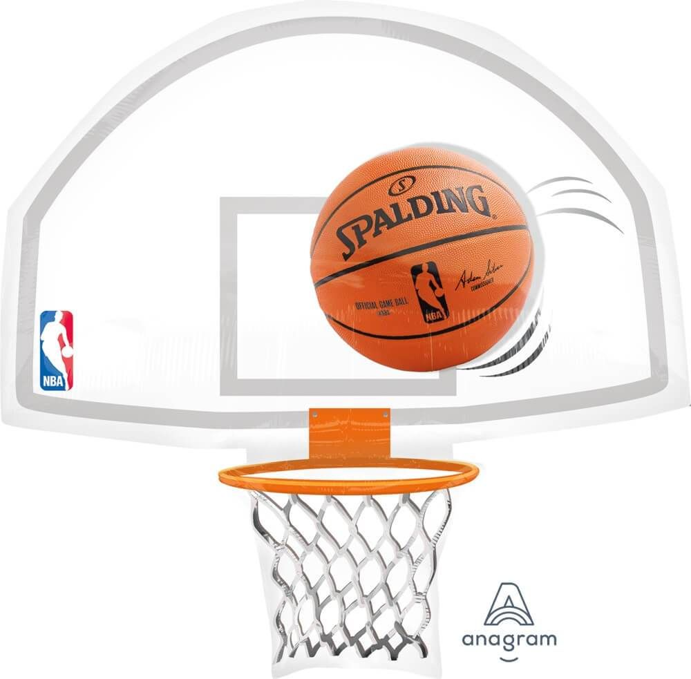 Nba 26 Backboard Balloon Add This To Your Bundle For More Party Fun All Balloons Are New And March Madness Party Decorations Basketball March Madness Parties