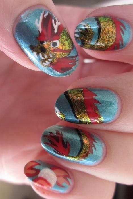 Chinese Dragon Nails Nailstorm Pinterest Nail Art Nails And
