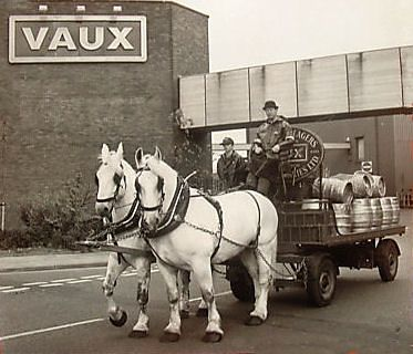 Vaux Breweries  used horse and cart to carry their beer to the pubs - a common sight in Sunderland when I was a girl