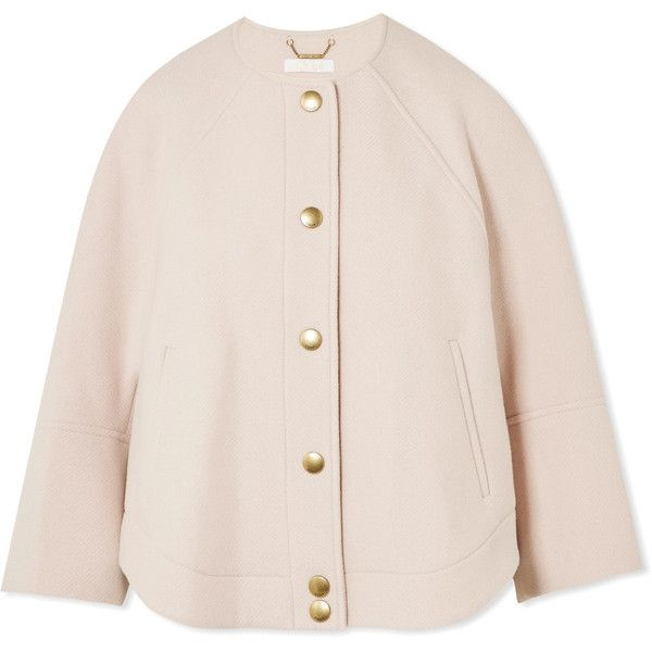 Chloé Wool-blend jacket (166565 DZD) ❤ liked on Polyvore featuring  outerwear, · Pink Bomber ...