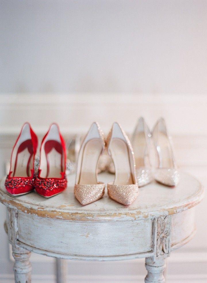 wedding shoes idea; photo: Esther Sun Photography