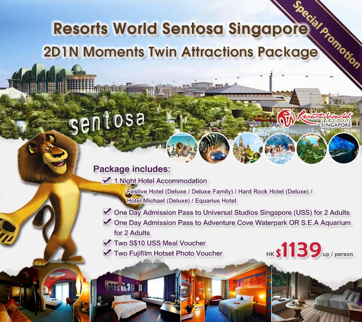 Resorts World Sentosa Singapore 2d1n Moments Twin Attractions Package Hotel Universal Studios Si Universal Studios Singapore Hotel Deluxe Universal Studios