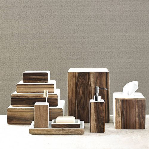 Habitat Acacia Wood Bathroom Accessories Modern And Rustic Collide In Our Bath Crafted From Sy Each Perfectly Shaped