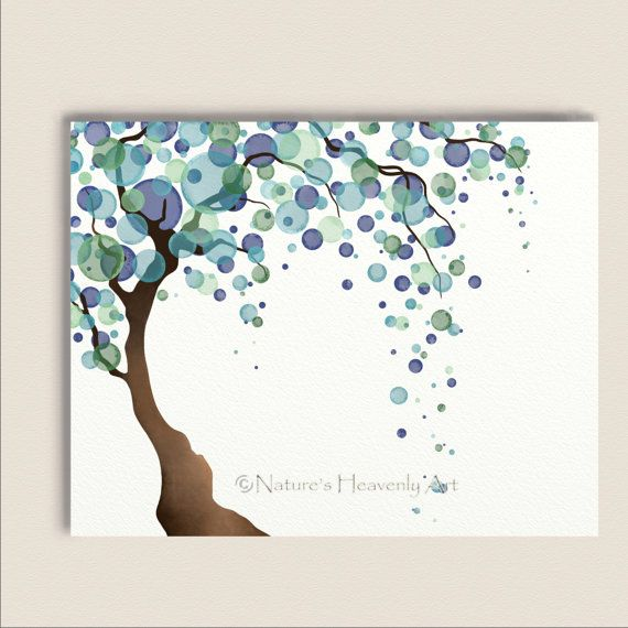 Blue Green Wall Decor Tree Art For Bedroom Tree Wall Art Modern