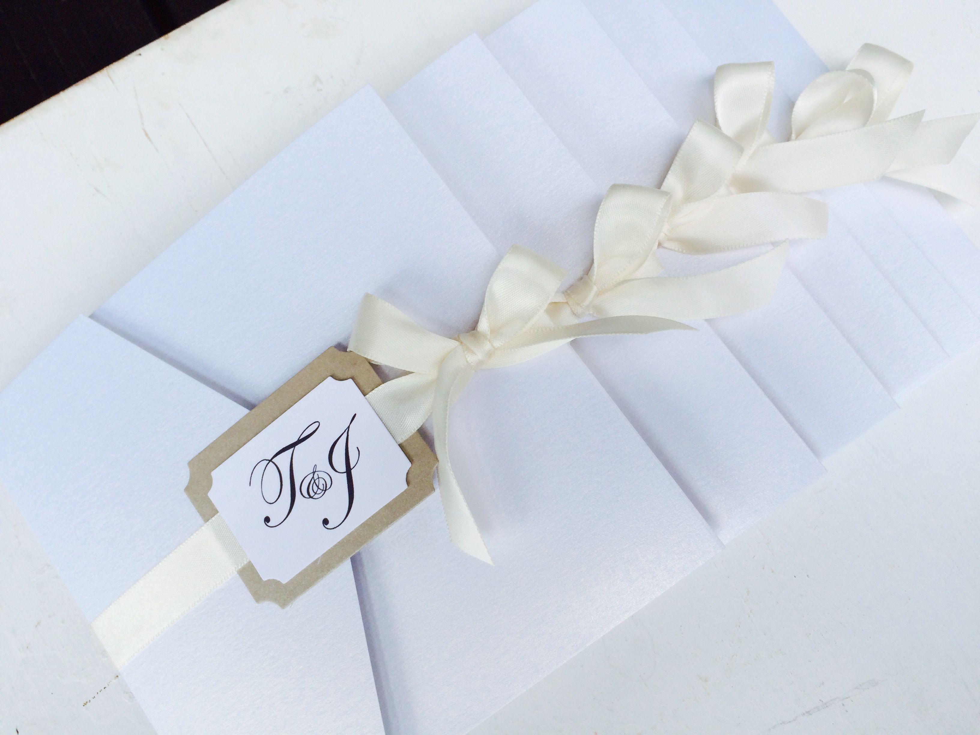 Pocketfoldkarte Zur Hochzeit, Einladung Zur Hochzeit, Pocketfoldkarte,  Monogramm, Satin,Klassisch Elegante