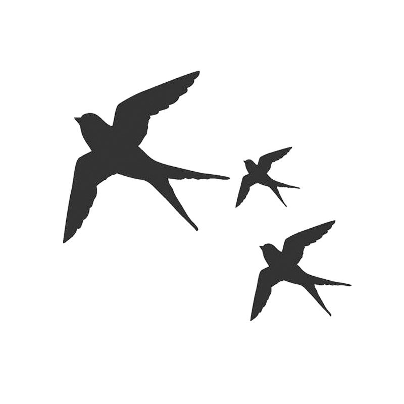 11 Bird Stickers Set Black Vinyl Wall Art Any Color Bumper Window Decal Sticker
