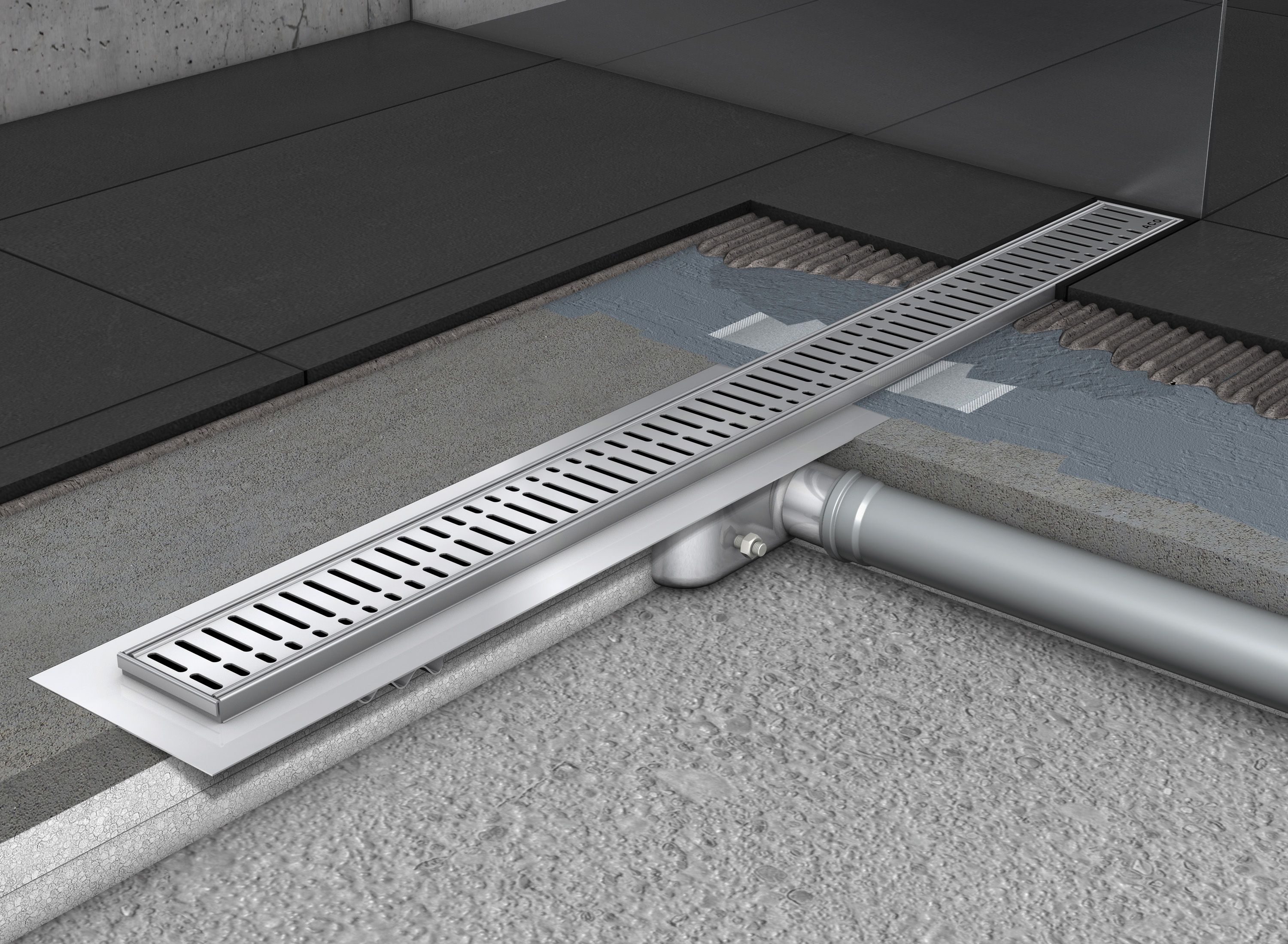 Water Drainage For Wet Floor Showers Using Aco Shower