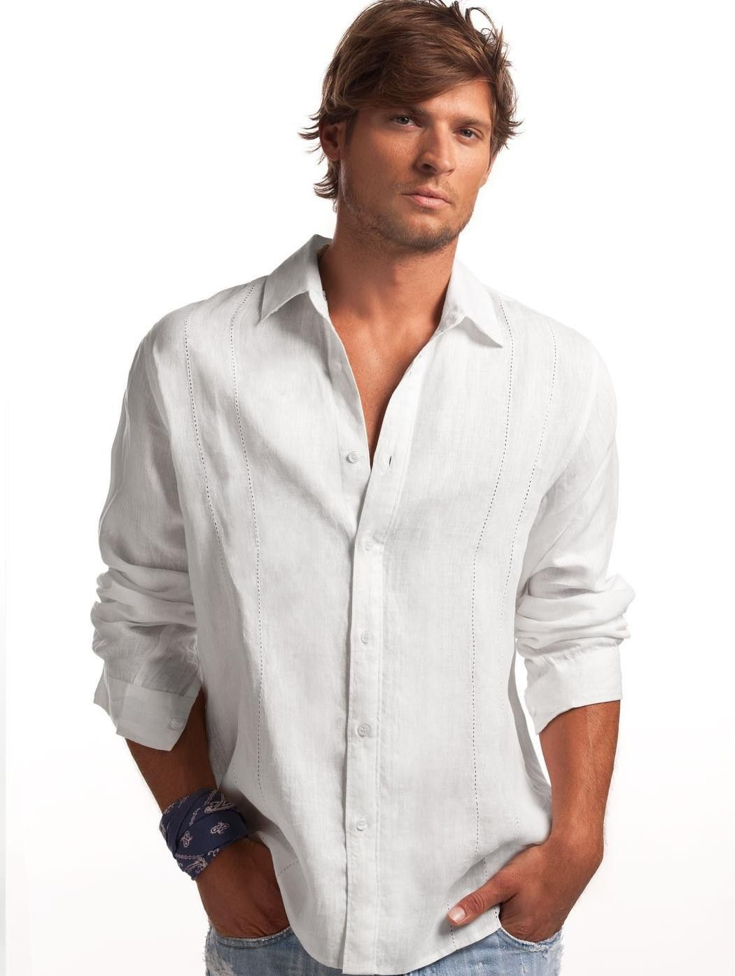 The men's linen shirt helps breathe life into a stylish warm-weather wardrobe. In recent years, a new category of action clothing has become popular, especially among men who hit the gym regularly. Even if you wear these quick-dry sporty looks regularly, you're bound to need a dressier alternative.