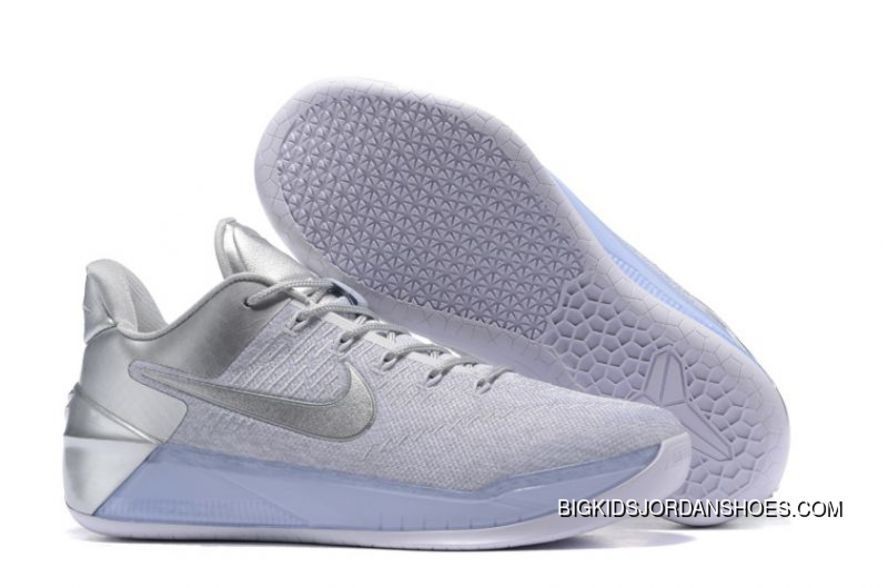 """newest 06269 7bcc2 Discount Nike Kobe A. """"Silver White""""High Quality New Release – Michael  Jordan Shoes"""