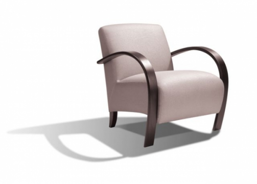 Fauteuil design cuir ou tissu accoudoir bois ou cuir nombreuses