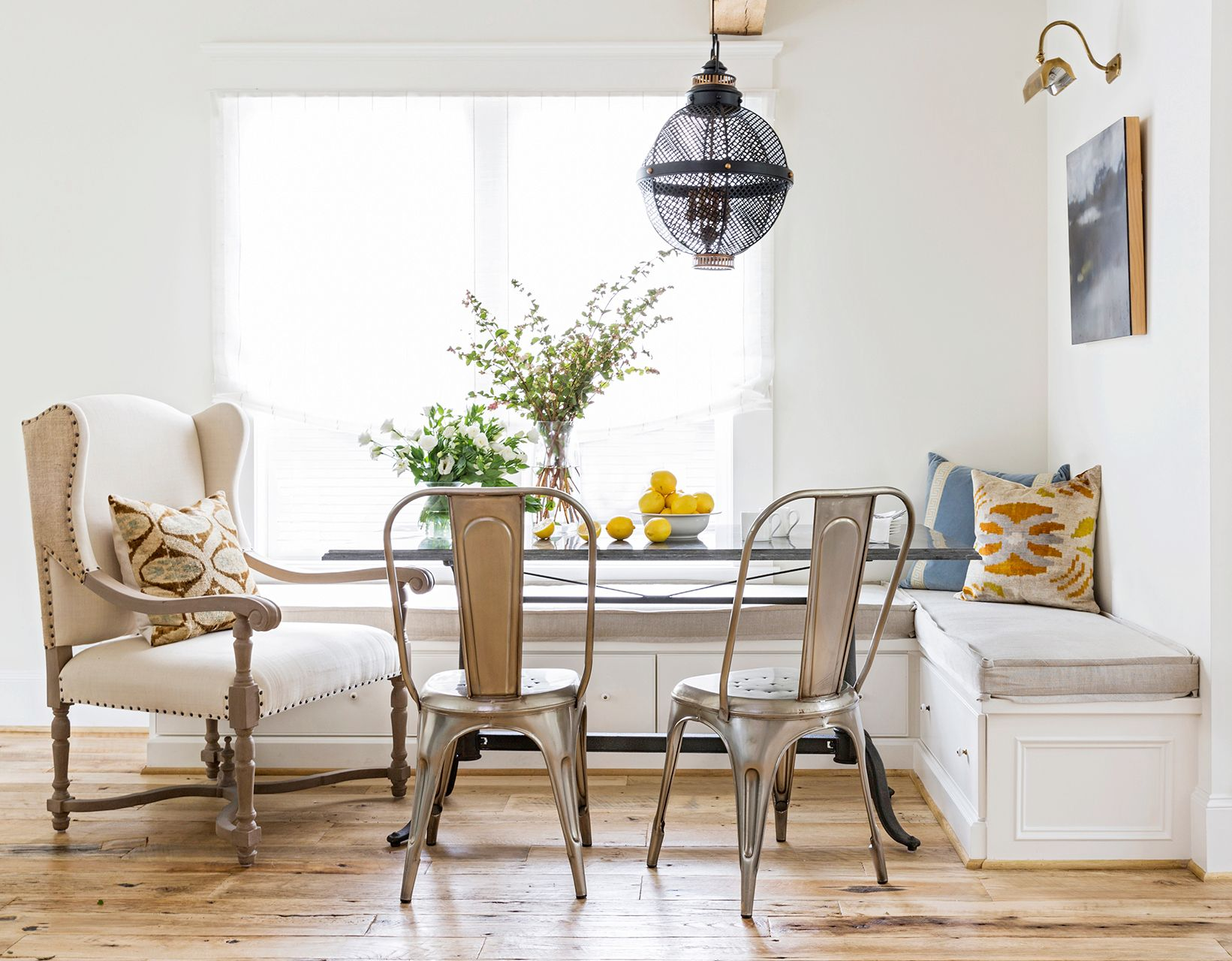 Petite Banquette Design See How This Overlooked Garage Attic Transformed Into A Dreamy