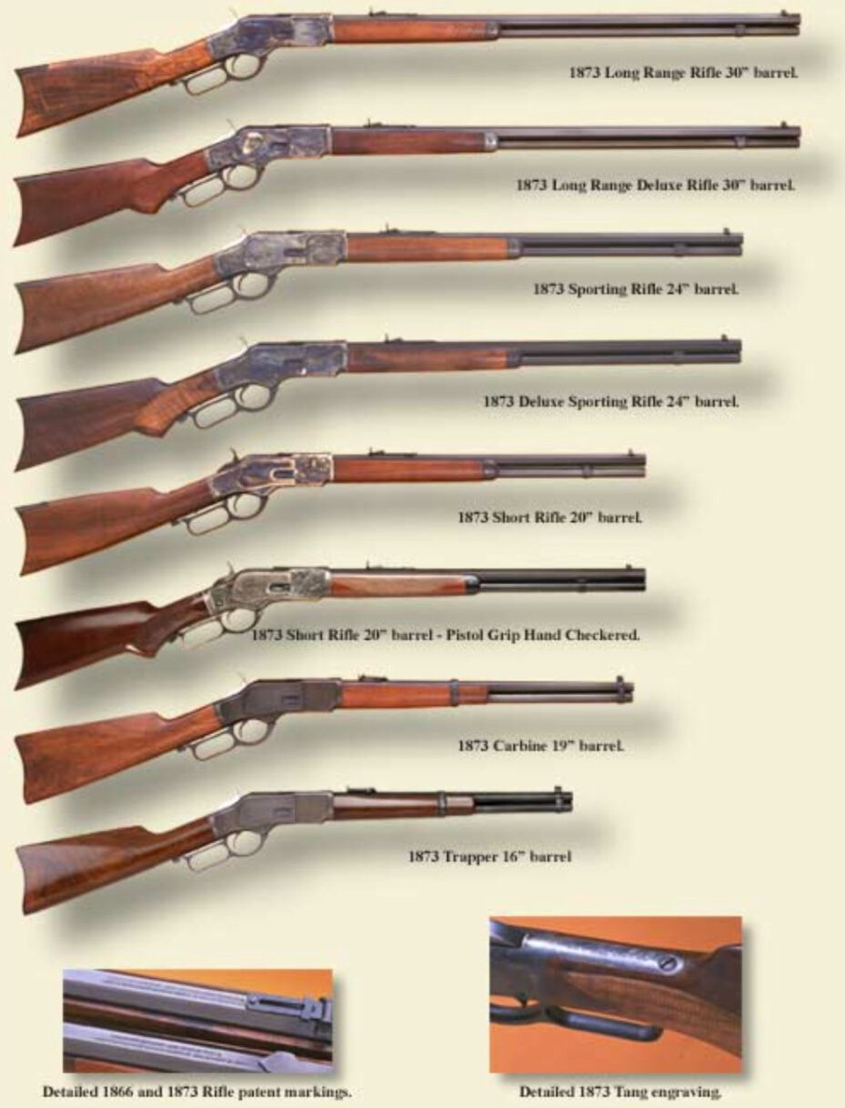 Winchester 1873 lever action rifle variations | guns | Guns, Lever
