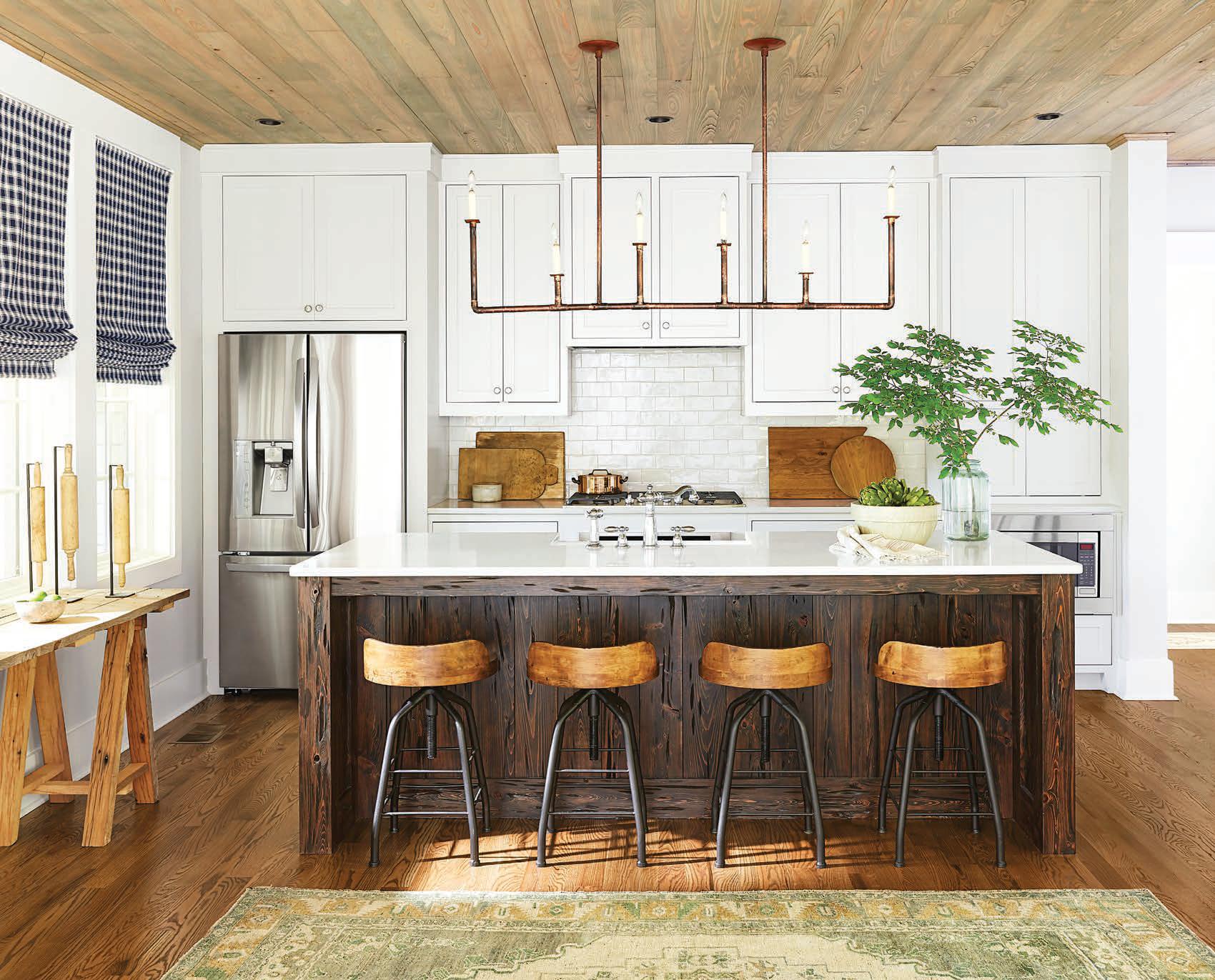 Adjustable Industrial Hickory Wood Swivel Stool Lake House Kitchen Home Decor Kitchen Kitchen Decor