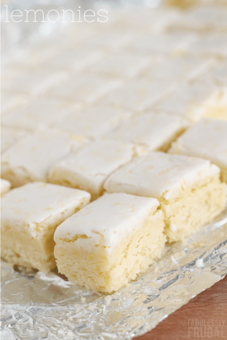 Lemonies Recipe (Lemon Brownies) - Fabulessly Frugal