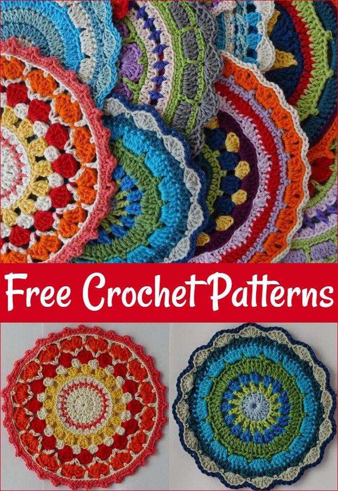 Free Crochet Mandala Patterns – All Free Patterns #crochetmandalapattern