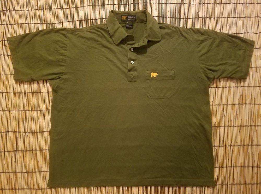 Goldenbear Bearlogo Vintage Golf Polo Shirts Casual Shirts Purple Polo Shirts