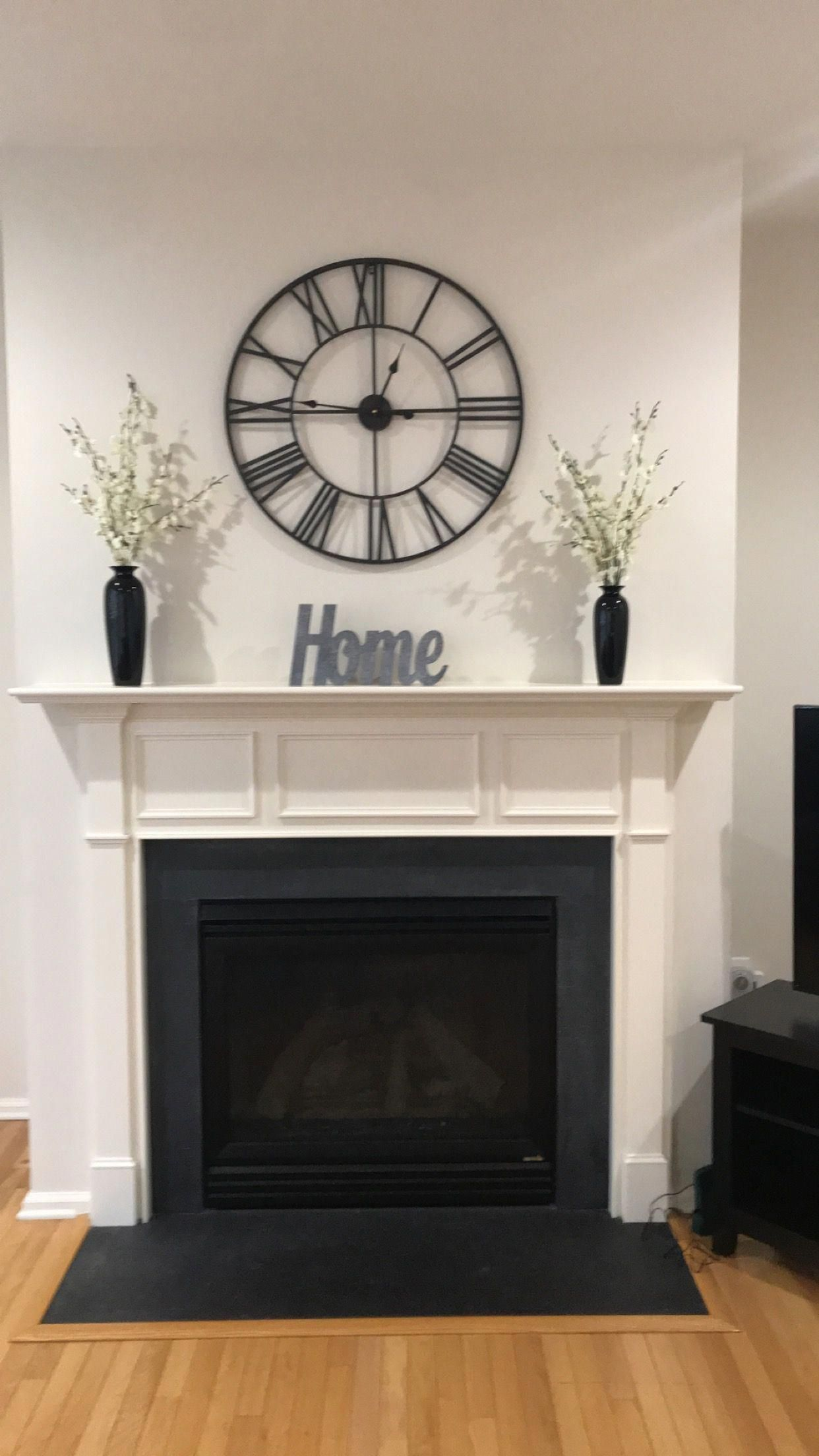 Simple Fireplace Decor Wall Clock From Wayfair Vase A Set Of 3
