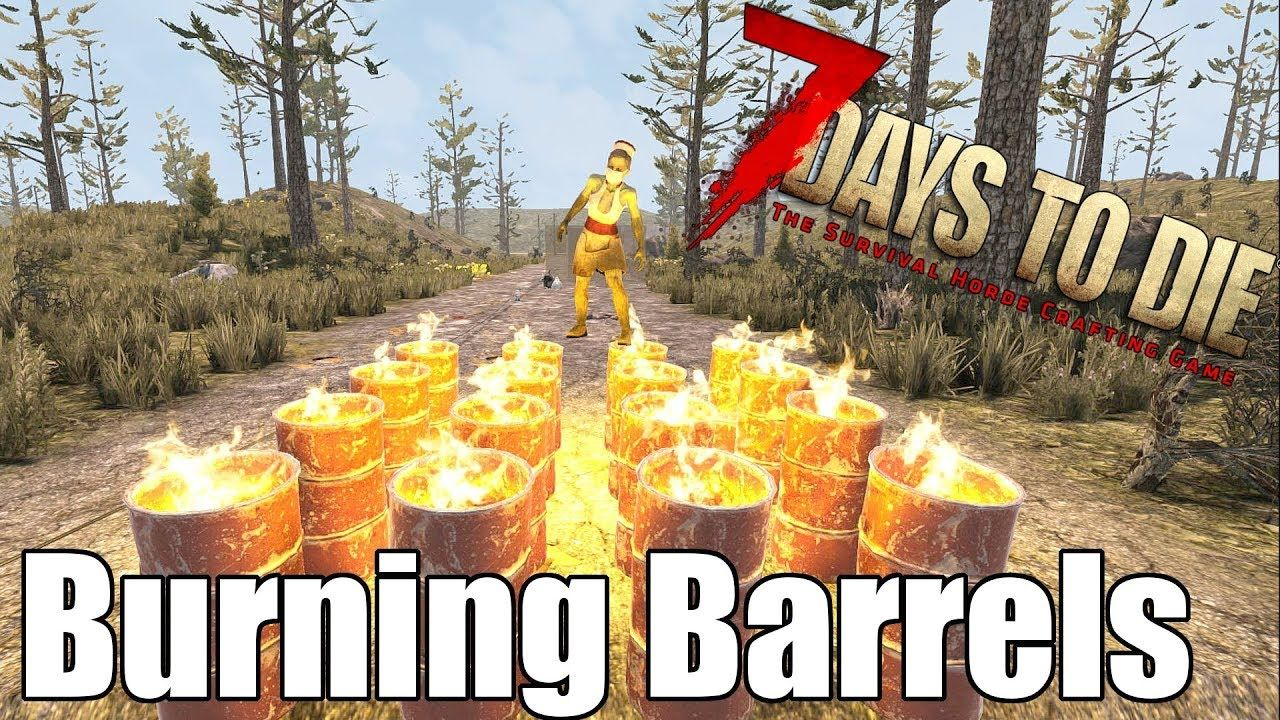 7 Days To Die Burning Barrels Vs Zombies Heat Map 7 Days To