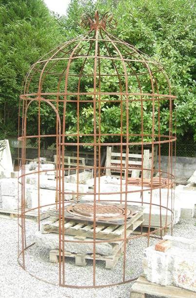 Gloriette ancienne tonnelle ancienne en fer forg marquise - Gloriette de jardin en fer forge ...