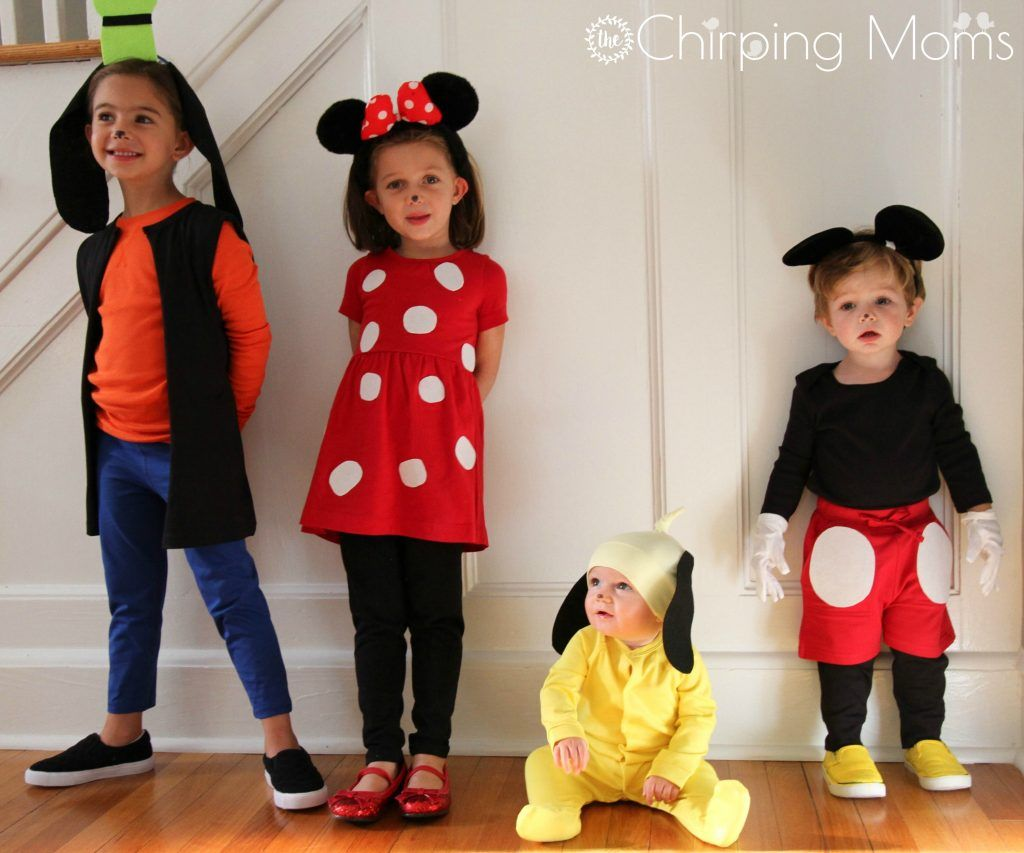 Easy DIY Mickey & Pals Costumes Halloween