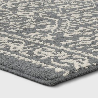 9 X12 Damask Tufted Area Rug Gray Threshold Adult Unisex Area Rugs Rugs Grey Hardwood Floors