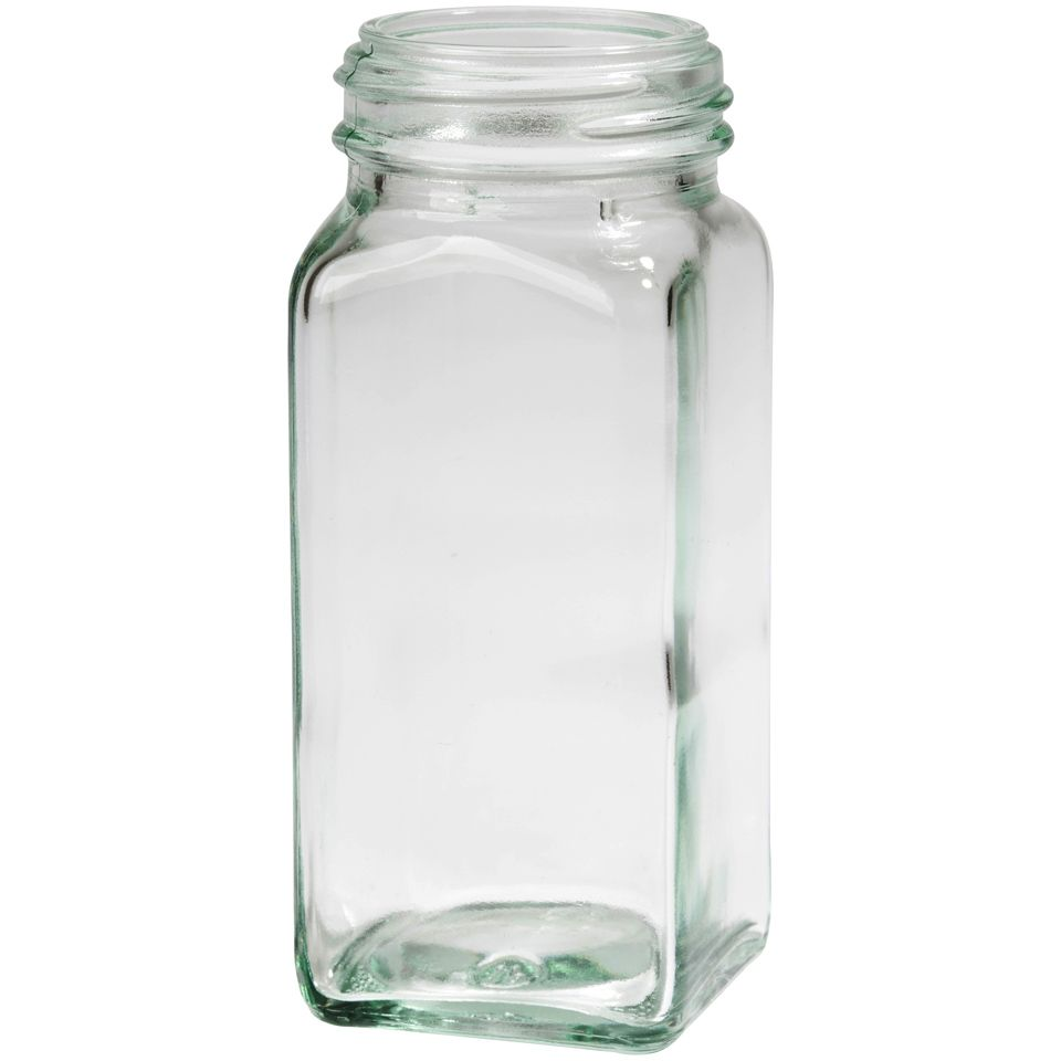 4 oz square clear glass spice jar glass bottles jars closures more packaging options direct