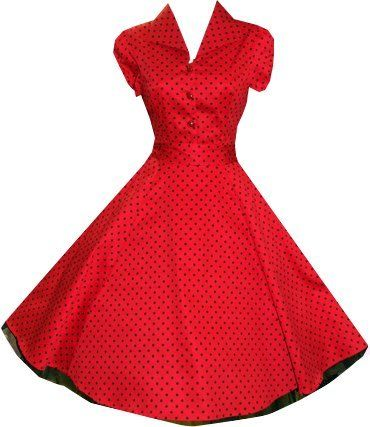 Pretty Kitty Fashion 50s Polka Dot Rot Schwarz Cocktail Kleid Pretty ...