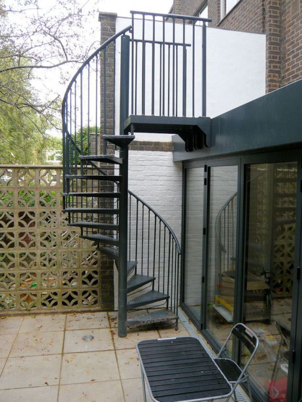 Best Galvanised Powder Coated Garden Access Spiral Staircase 400 x 300