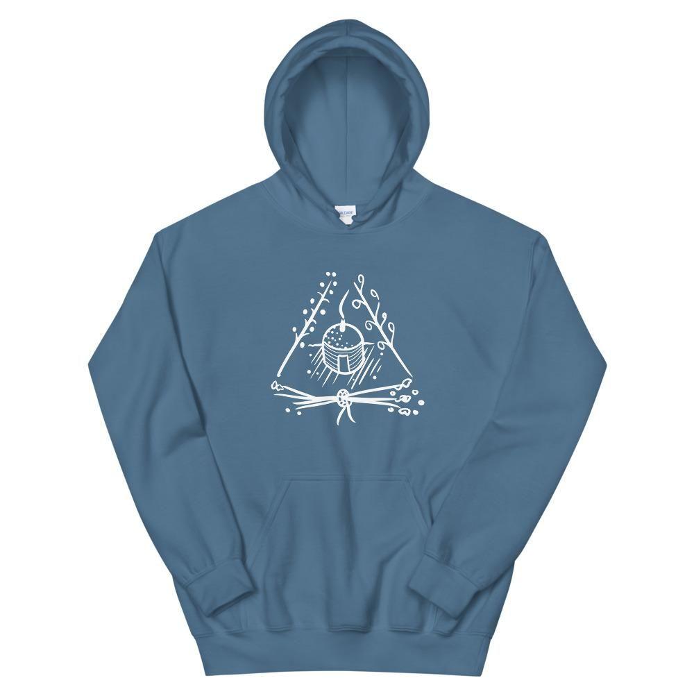 Triangle Hogan Unisex Hoodie - Indigo Blue / L