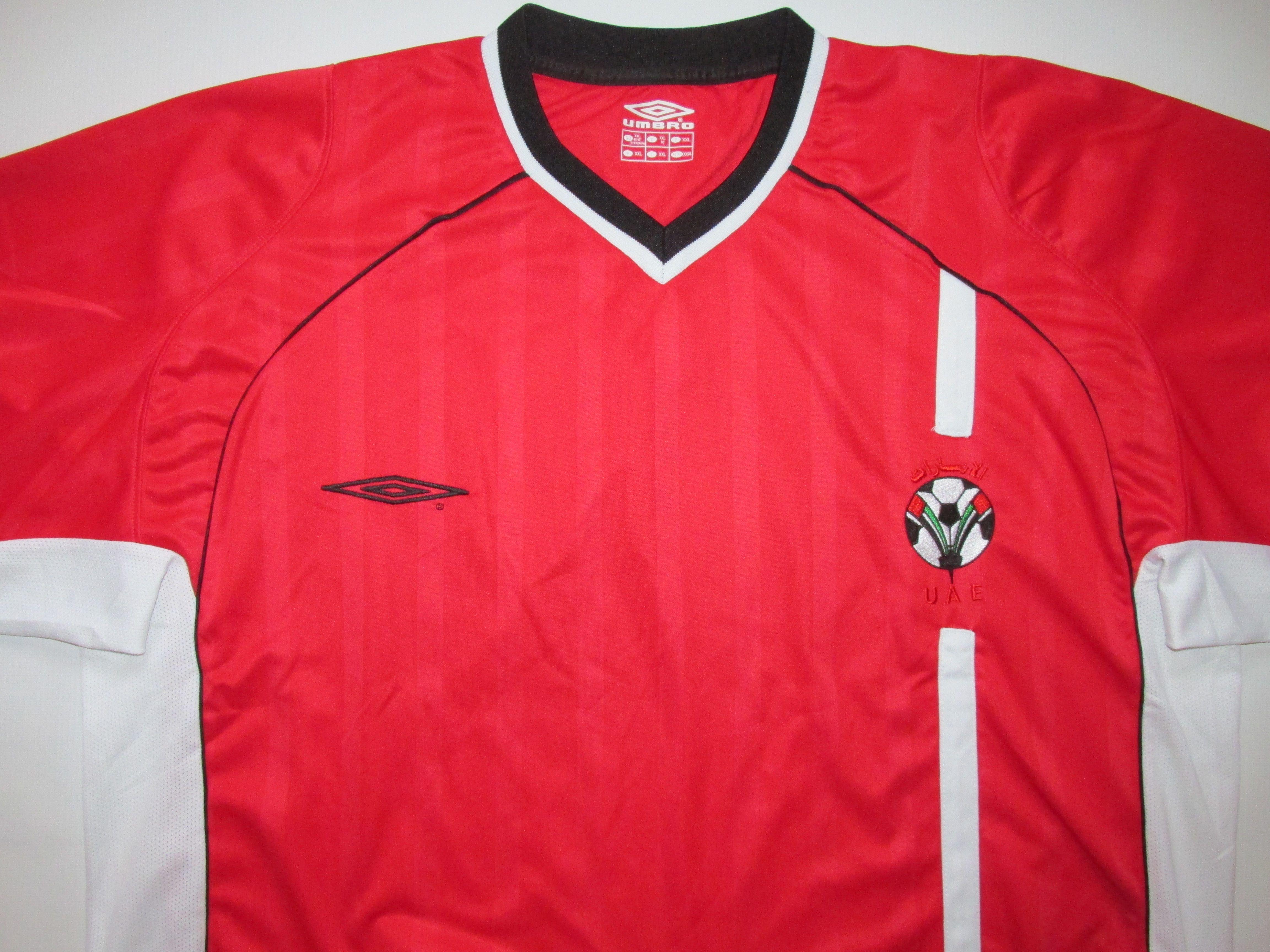 uae united arab emirates 2002 2004 away football shirt by umbro afc jersey soccer vintage