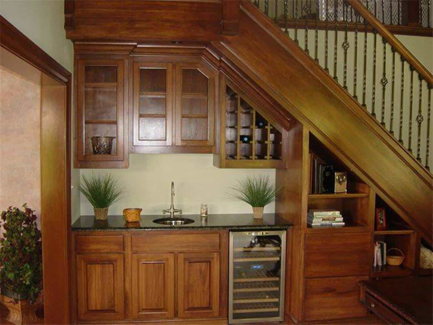 Home Design and Decor , Under Stair Design With Mini Bar : Stair ...