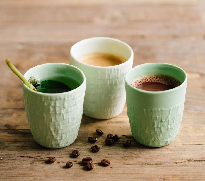 Taped coffee cups #ceramics #cups