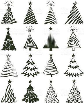 various christmas tree collection   basteln weihnachten, weihnachtsbasteln, weihnachten vorlagen