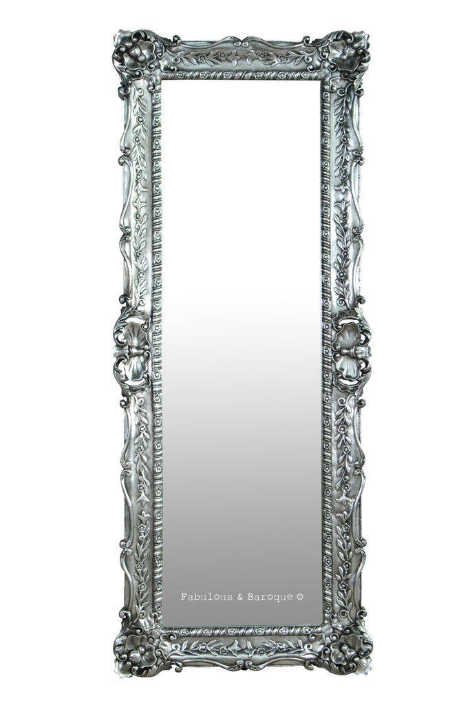 Monique Floor Mirror Silver Leaf Mirror Mirror On The Wall Floor Mirror Ornate Mirror Baroque Mirror