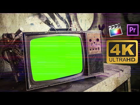 Broken Tv With Glitch Effects Green Screen Footage Free Download 4k Youtube Green Screen Footage Greenscreen Free Green Screen