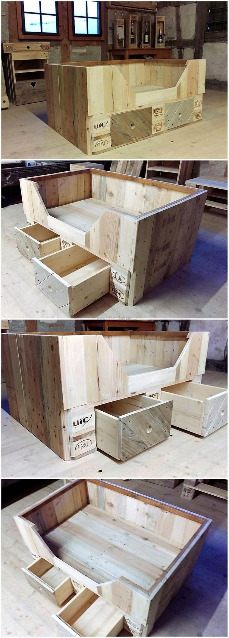 Sensational Ideas For Pallet Wood Recycling Palets Dise O De  # Caio Muebles Infantiles