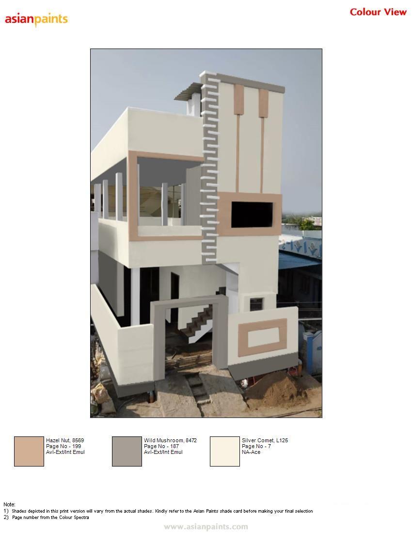 Exterior Colours Asianpaints Duplex House Design Exterior Color Combinations North Facing House