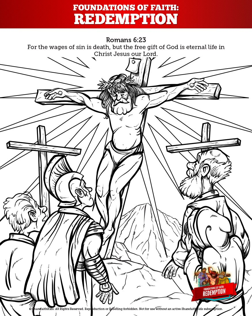 Romans 6 Redemption Sunday School Coloring Pages Your Kids Are