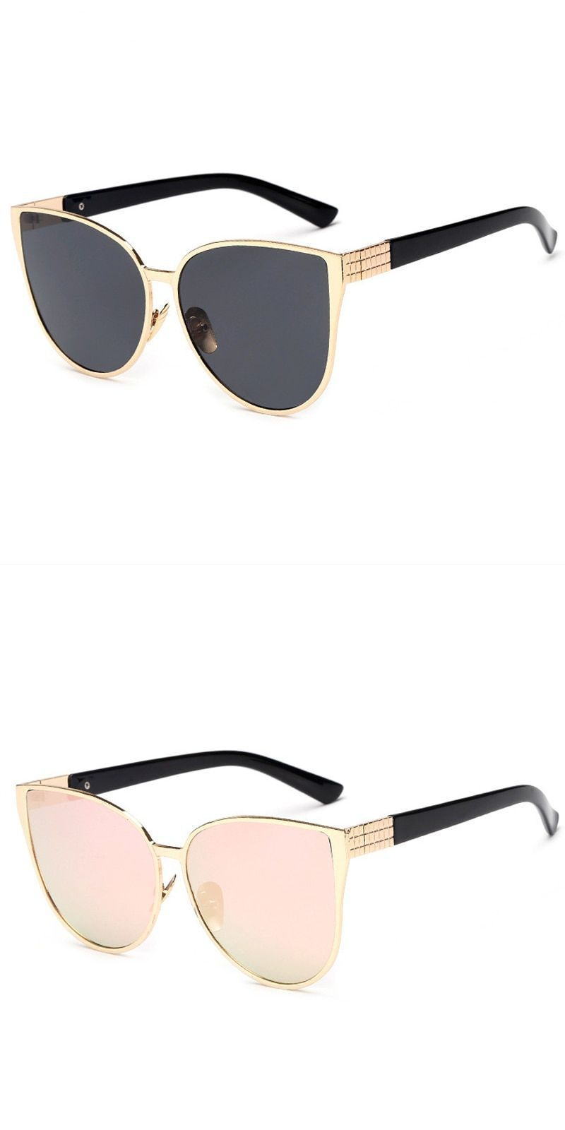New cat eye sunglasses women fashion summer uv400 oversize style big size  frame mirror sun glasses female oculos  fashion  classic  cool  uv400 ... 7253373ce4